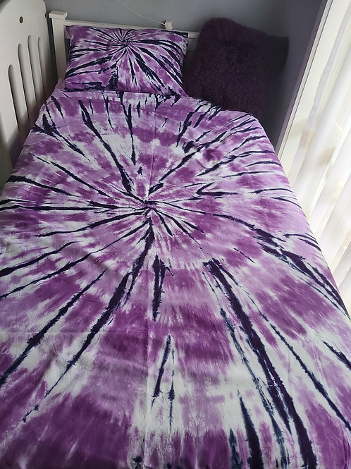 KING SINGLE Quilt Cover Set - Purple Spiral