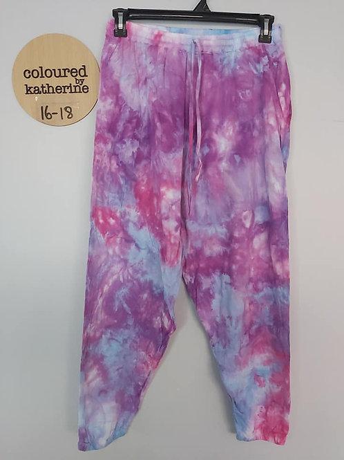 Cotton Joggers - Fairy Floss Ice Dye