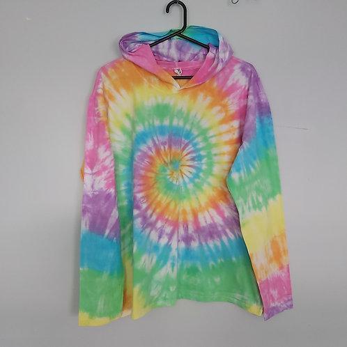 Tie Dyed Adults Unisex Hoodie -Pastel Spiral