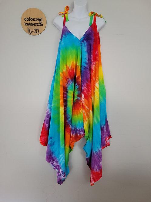 Jumpsuit - Tie Dye Rainbow Spiral