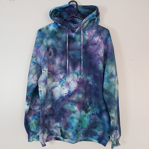 Tie Dyed Adults Unisex Hoodie -Ice Dyed Ocean