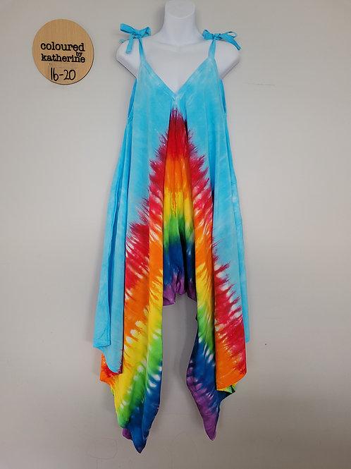 Jumpsuit - Tie Dye Rainbow with blue sky