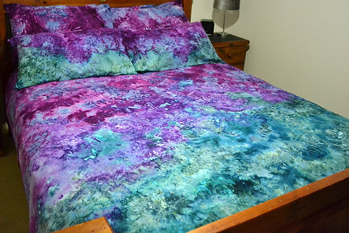 Quilt Cover Set - Linear Marble