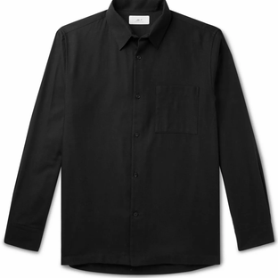 Mr P- Cotton and Cashmere-Blend Shirt