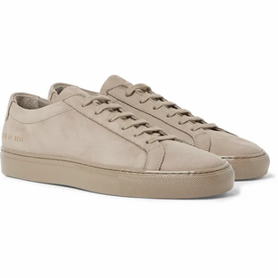 Common Projects- Achilles Lux Nubuck Sneakers- Brown