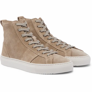 Mr P. Larry Suede Sneakers- Taupe