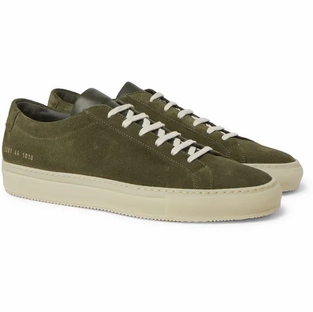 Common Projects- Achilles Suede Sneakers- Green