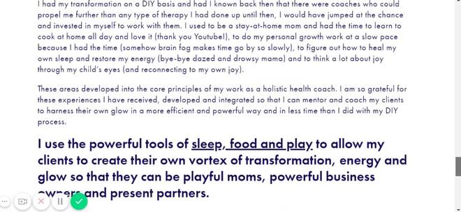 The Glowing Health Coach_Branding + Web_Designed by Latoya Antonia