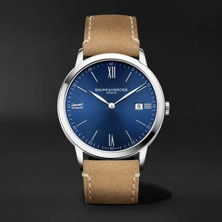 Baume & Mercier- Classima 40mm Stainless Steel and Leather Watch