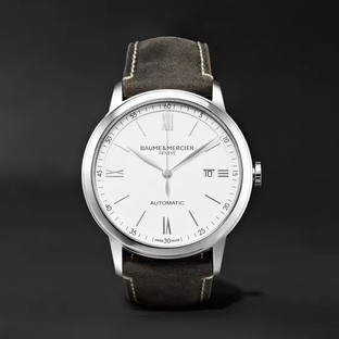 Baume & Mercier- Classima Automatic 42mm Stainless Steel and Leather Watch, Ref. No. 10409