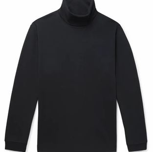 NNO7- Zyron TENCEL and Cotton-Blend Rollneck Top