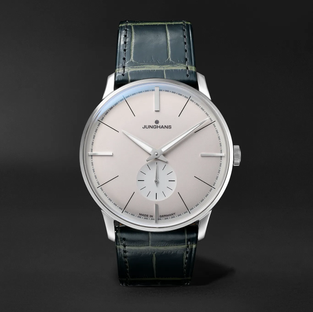 Junghans- Meister Classic Terrassenbau Limited Edition Hand-Wound 37.7mm Stainless Steel and Alligator Watch, Ref. No. 027/3000.02