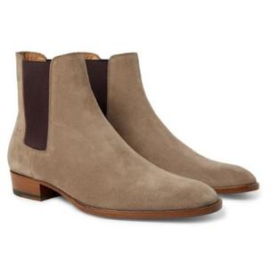 Saint Lauren- Wyatt Suede Chelsea Boots