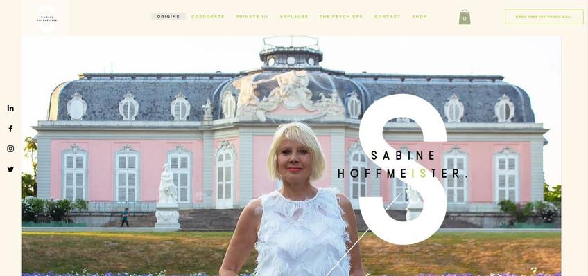 Sabine Hoffmeister Website_Designed by Latoya Antonia