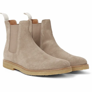 Common Projects - Suede Chelsea Boots- Sand