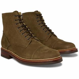 GRENSON- Fred Nubuck Brogue Boots