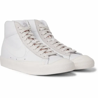 NIKE- Blazer Mid '77 Vintage Suede-Trimmed Leather High-Top Sneakers