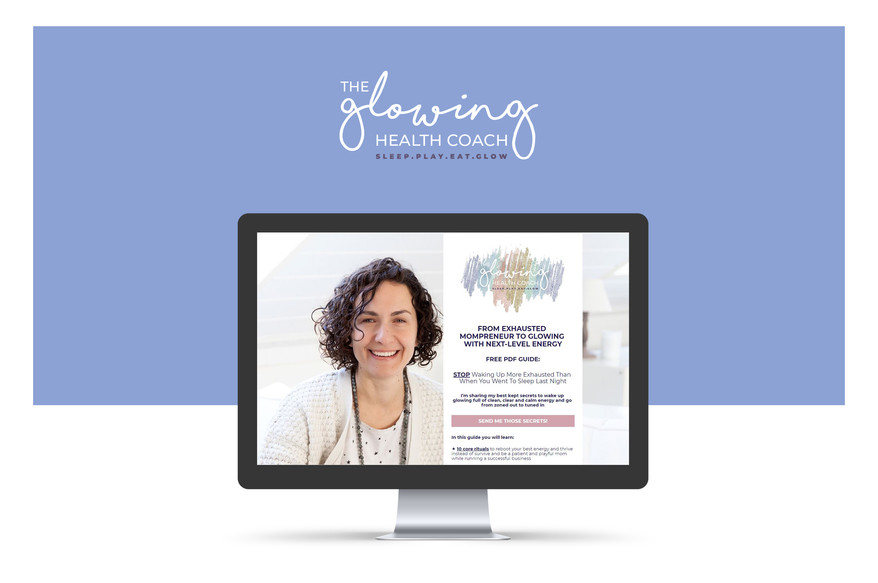 The Glowing Health Coach Sales Page_Designed by Latoya Antonia