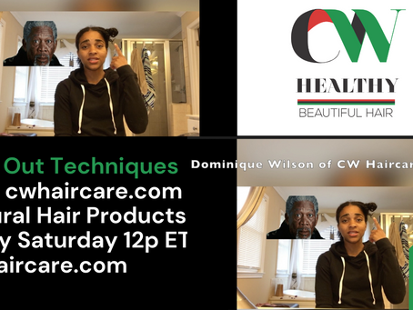 Twist Out Techniques: Watch on CW Haircare's YouTube Channel