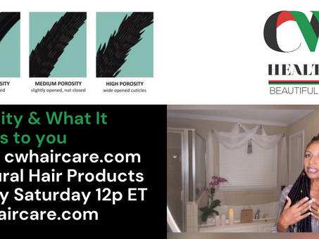 Hair Porosity and Why it Matters to You: Watch on CW Haircare's YouTube Channel