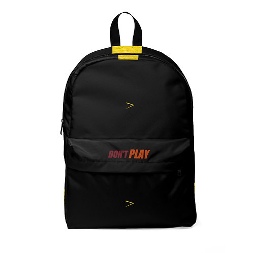 Unisex Classic Don't PLAY Backpack
