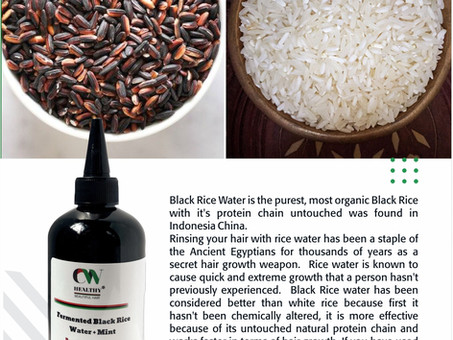 Fermented Black Rice with Mint: 8 Natural Hair Benefits