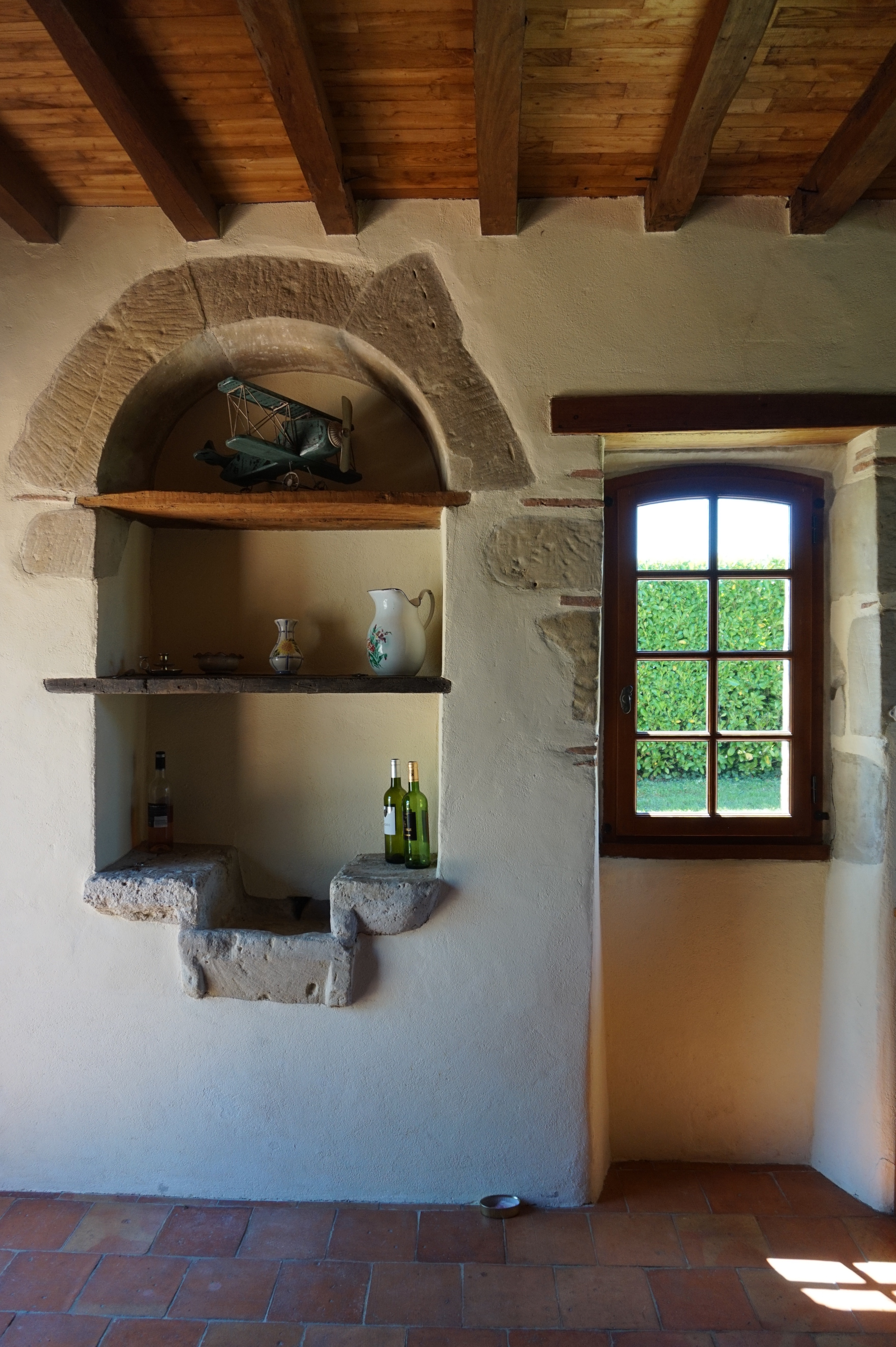 Indoor stone basin.