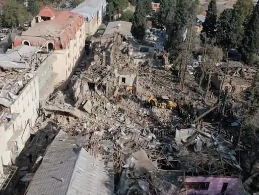 11.10.2020 arménské ozbrojené síly ostřelovaly civilní obyvatelstvo města Gjandža