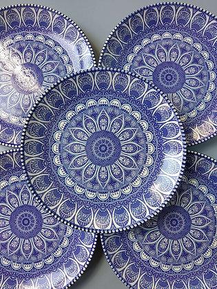 5 PLATOS BLUE
