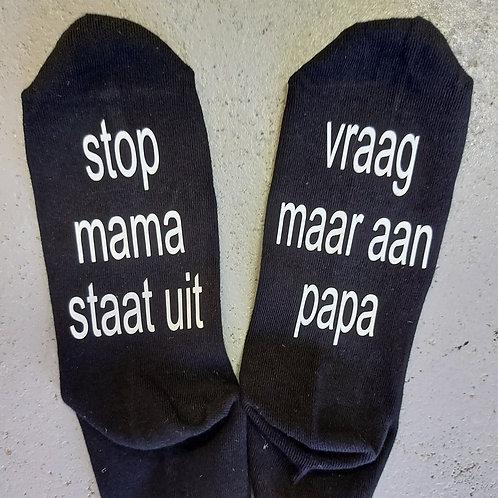 Sokken 39-42 | Mama staat uit | Mar-Go Cadeau
