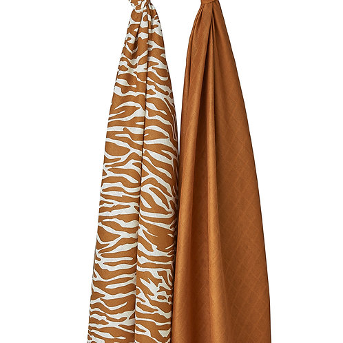 Swaddle | 2 pack | Zebra | Camel | Meyco Baby
