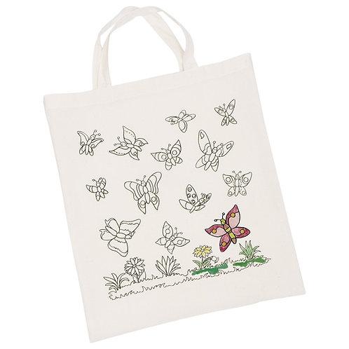 Vlindertas -zelf inkleuren- Goki