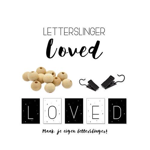 Letter Slinger | Loved |  Happy038