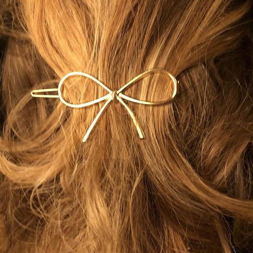 Haarspeldje Bow Gold