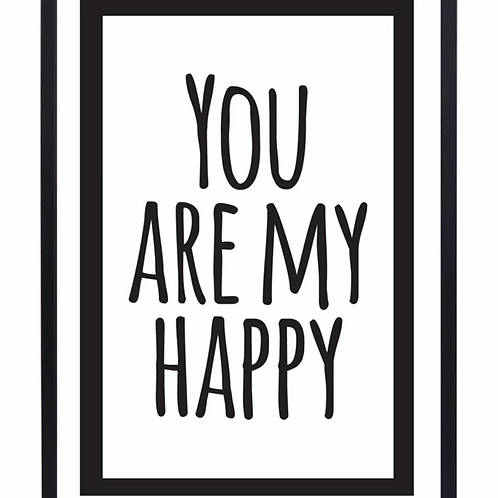 Poster You are my happy | Zoedt