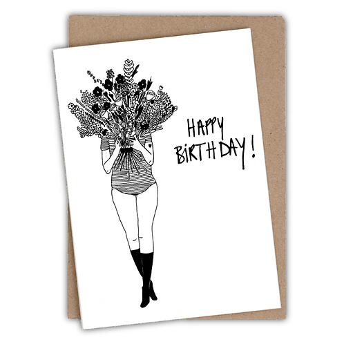 Kaart | Flower girl | Happy birthday | Trotz