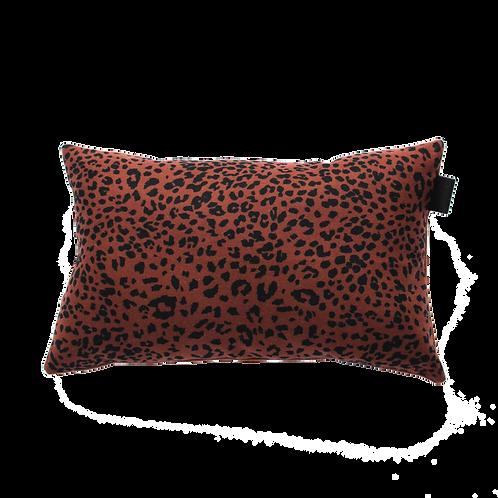 Kussen   Wol Kussen leopard roestbruin-zwart    Thuis met Moon