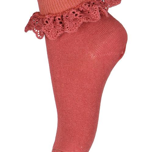 Flippa sokken met kant | Marsala | MP Denmark