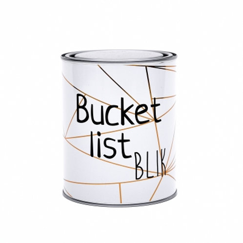 Bucket list blik | The big gifts | van d'olde stempel