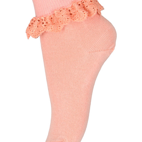 Flippa sokken met kant | Roze | MP Denmark