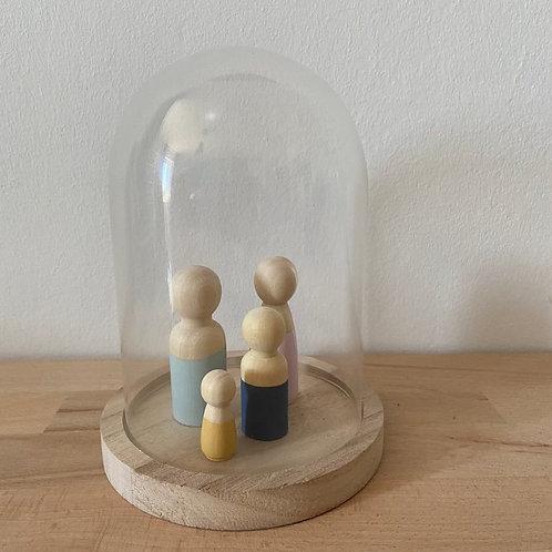 Stolp van hout en glas | Medium | Wonderzolder