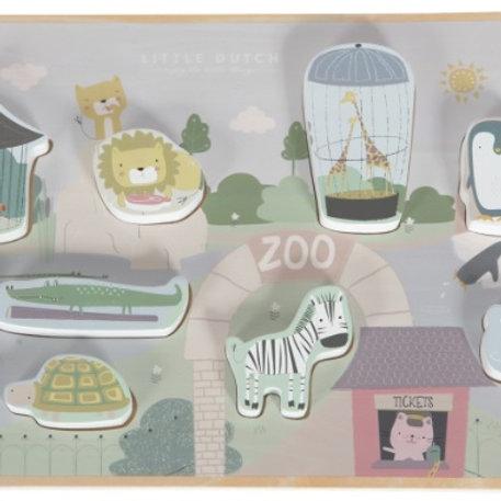Puzzel | Vormen puzzel dierentuin | Little Dutch