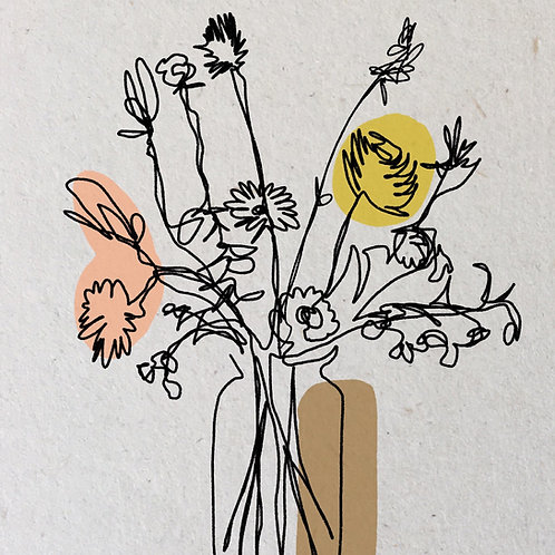 A4 Poster Bloemen in vaas| Joeff