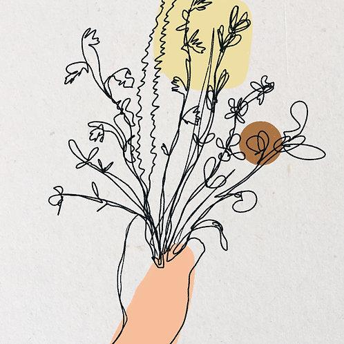 A5 Kaart Alsjeblieft, Een bloemetje | Joeff