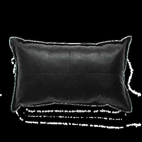 Kussen | leather zwart | Vegan | Thuis met Moon
