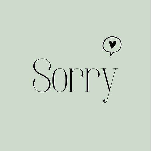 Kaart |Sorry | MadePaper