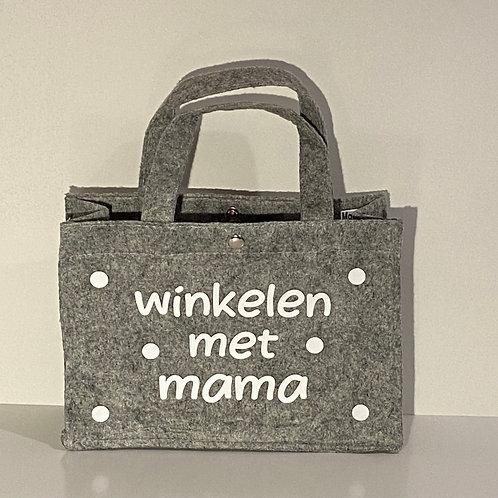 Tas | Vilten tas | Winkelen met mama | MarGoCadeau