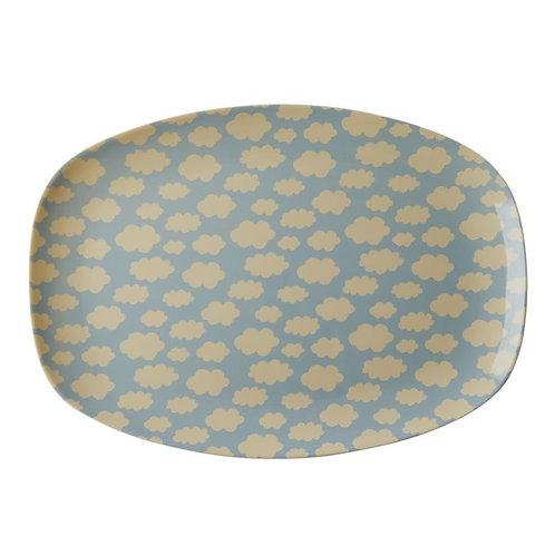 Melamine Plate|  Blauw wokjes | RICE | Wonderzolder