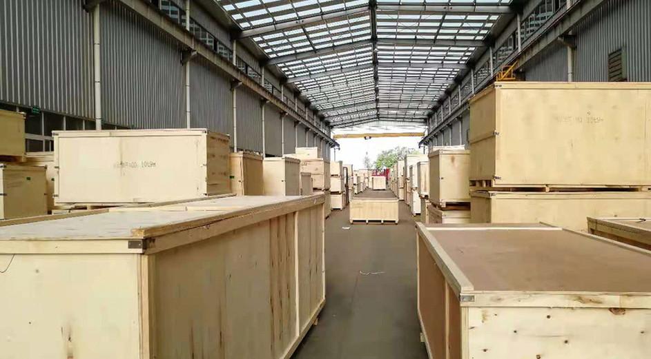 crane parts wooden case packing