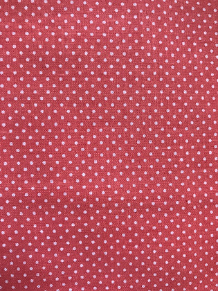 Coral Small Polka Dots